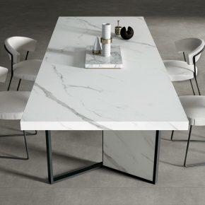 MB04 ExtraStatuario / MB05 Calacatta Arabescato / ME02 Concrete Grey / CE02 MetalDark