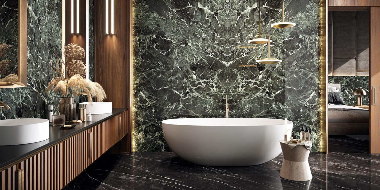 Grandi lastre effetto marmo, una scelta moderna di arredo