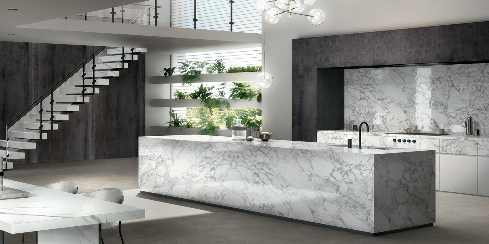 Top della cucina in Marmo Bianco, un trend inarrestabile